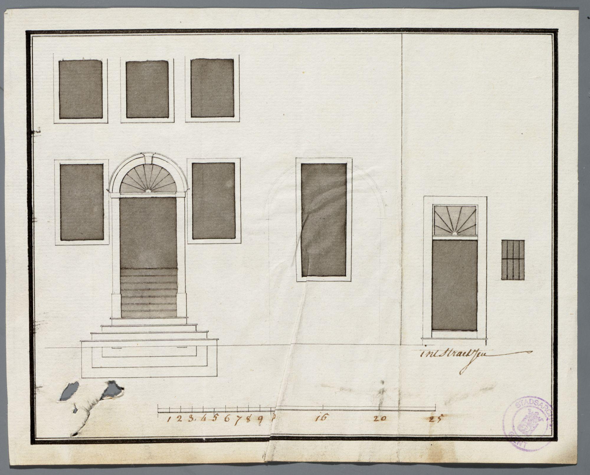 Gent: Nederscheldestraat (verdwenen en opgenomen in het François Laurentplein), 1791: opstand gevel
