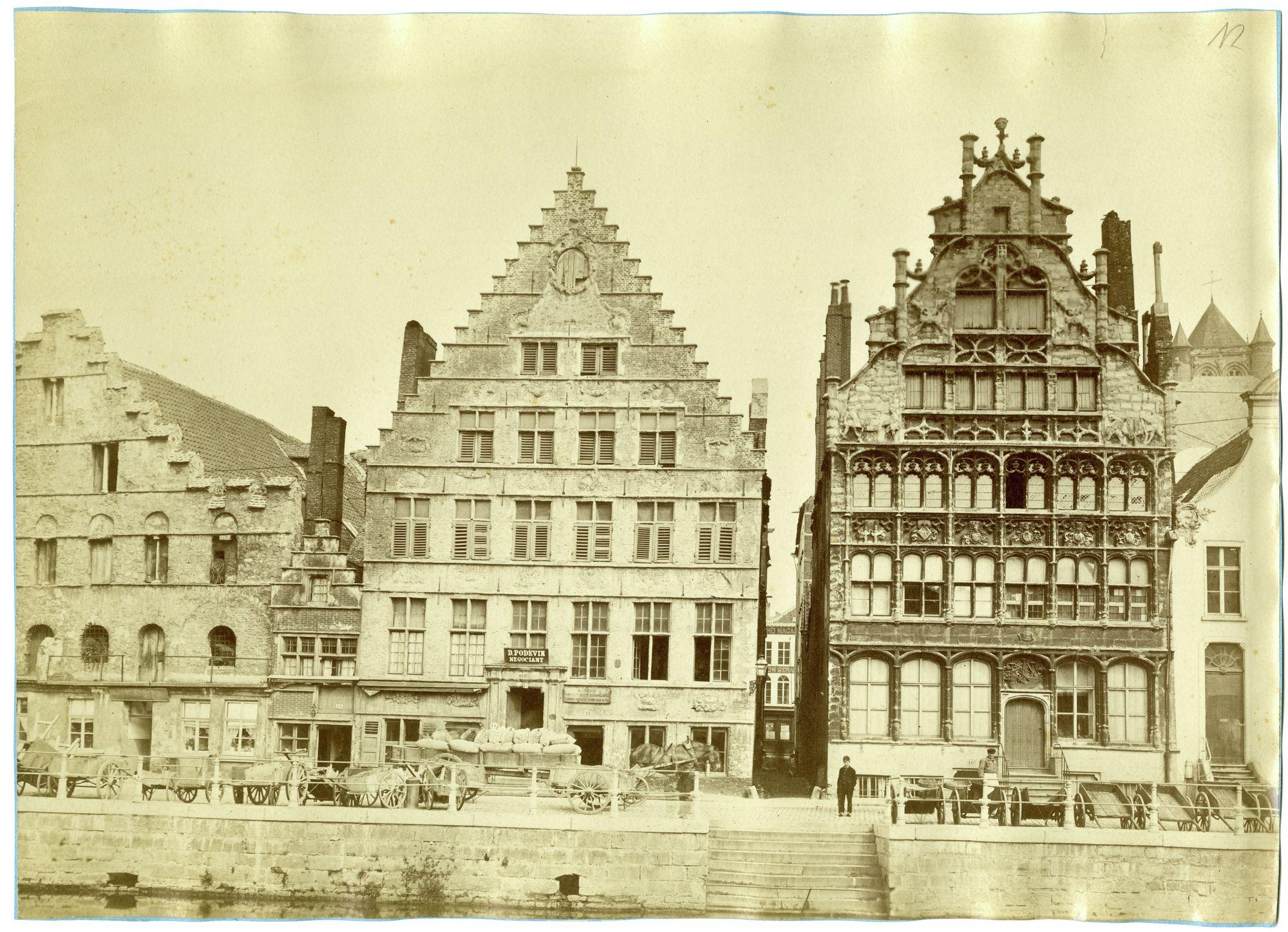 Gent: Graslei, Korenstapelhuis, Tolhuisje, Korenmetershuis, Hazewindstraatje en Huis der Vrije Schippers