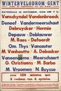 Wintervelodroom - Gent, zaterdag 15 oktober, 1938 om 7u.
