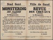 Stad Gent, Monstering der paarden | Ville de Gand, Revue des chevaux .