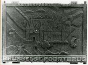 Gent: Brusselse Poortbrug: Keizerbruggen: Gedenkplaat: Keyserpoorte, 1979