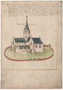 Gent: Maïsstraat: Sint-Catharinakerk van Wondelgem, voor 1579