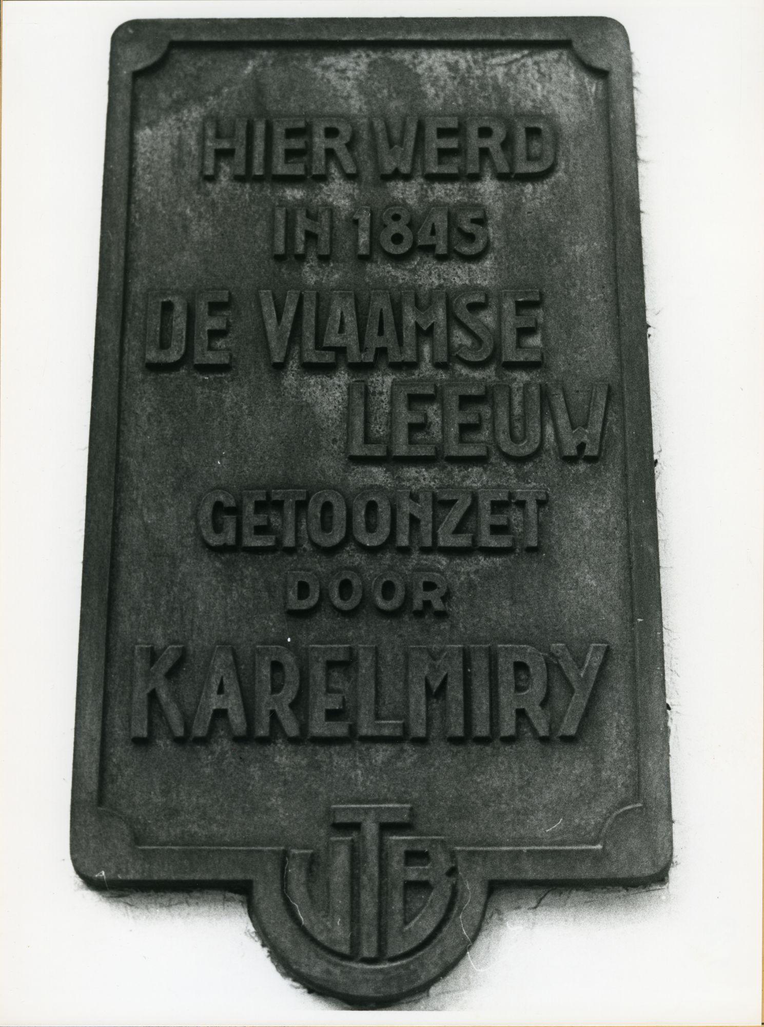 Gent: Twaalfkameren 62: Gedenkplaat
