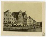 Gent: Graslei met Korenstapelhuis, Tolhuisje,Korenmetershuis en Huis der Vrije Schippers