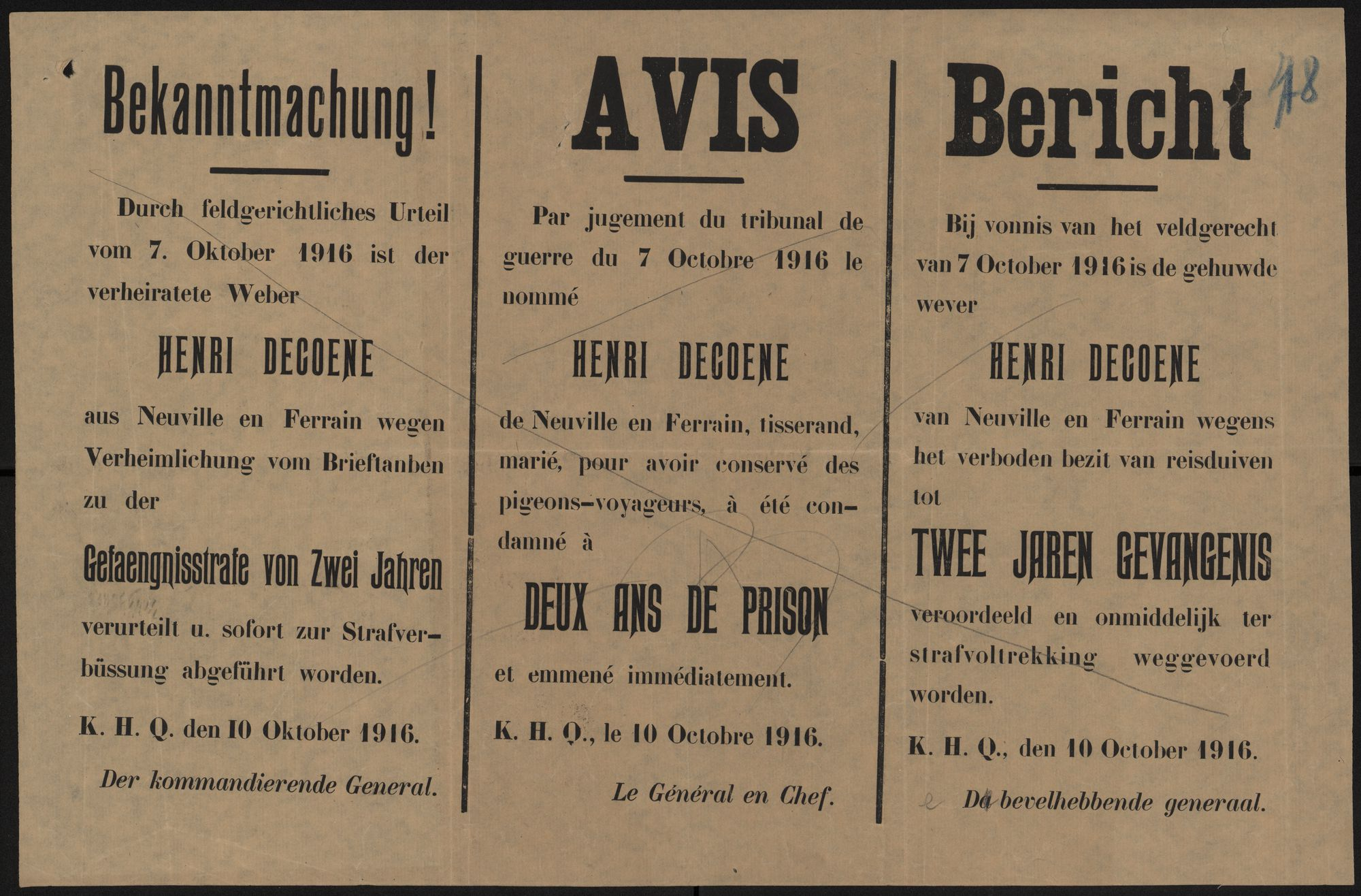 Bekanntmachung | Avis | Bericht.