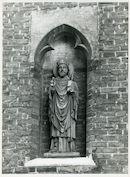 Gent: Oude Houtlei 46: Gevelbeeld, 1980