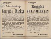 2 mob. Etappen Kommandantur. N° 1798, Bekanntmachung, Getreide Märkte | 2 mob. Etappen kommandantuur N° 1798, Bericht, Graanmarkten.