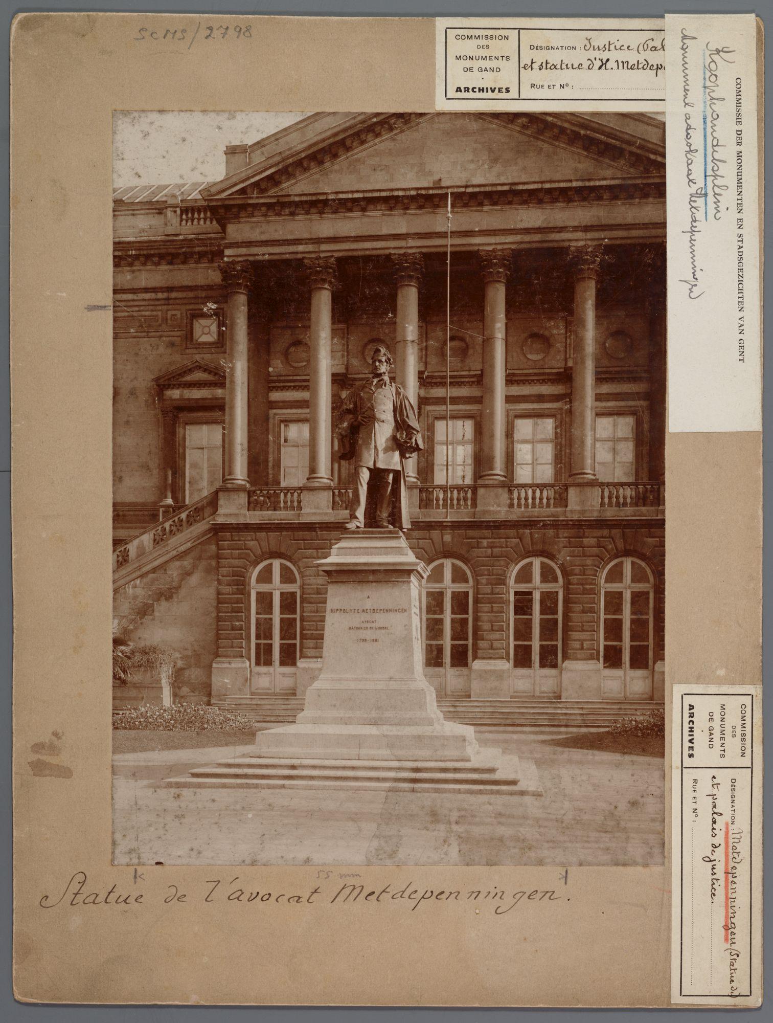 Gent: Standbeeld van Hippolyte Metdepenningen, Koophandelsplein