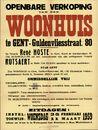 Openbare verkoop van een woonhuis te Gent, Guldenvliesstraat, nr.80, Gent, 11 maart 1959