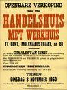 Openbare verkoop van een handelshuis met werkhuis te Gent, Molenaarstraat, nr.81, Gent, 8 november 1960