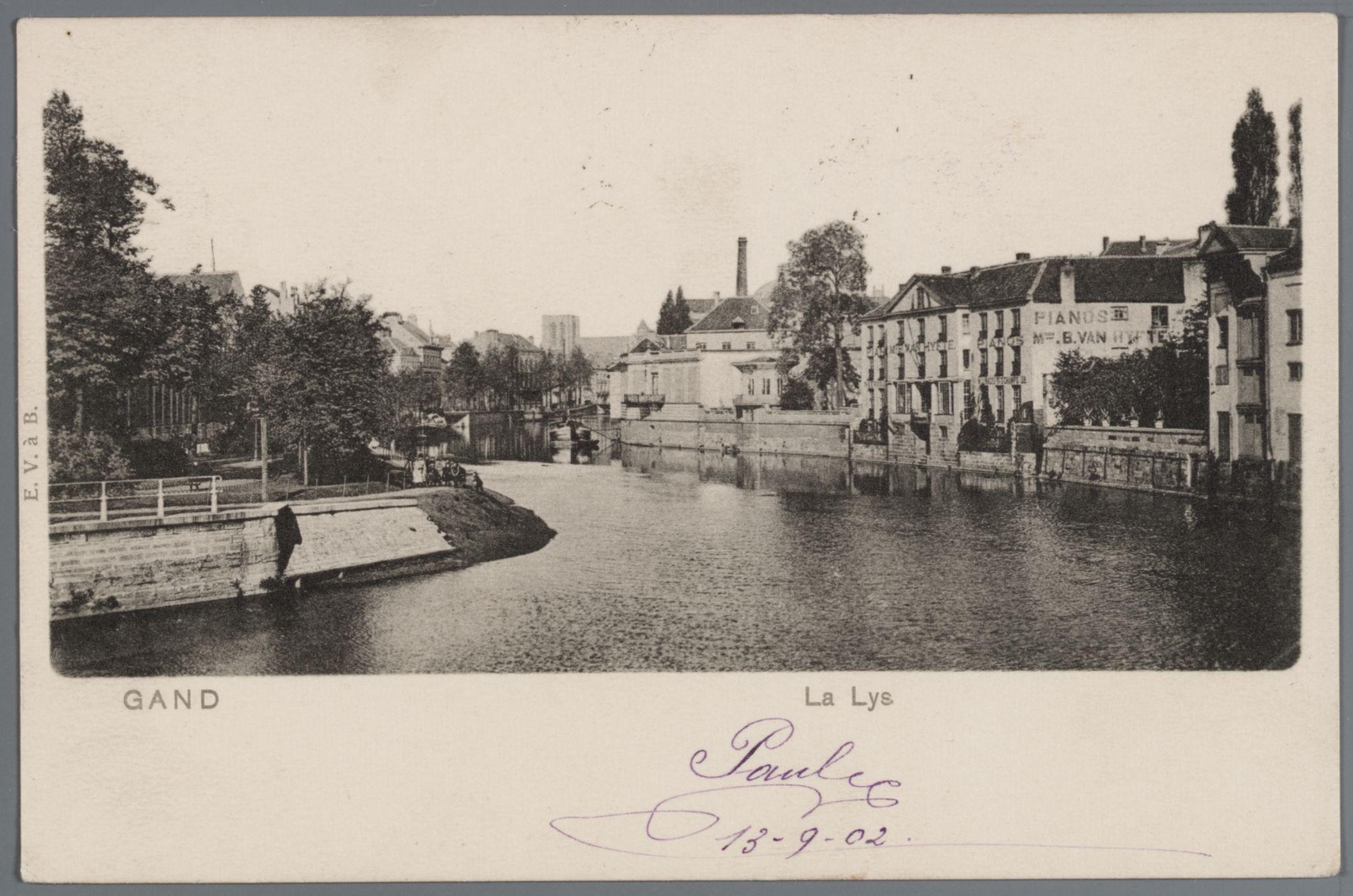 Gent: Lindenlei en achtergevels Nederkouter