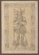 Gent: Jacobijnenstraat: Dominicanenkerk (nu verdwenen): grafplaat van Robrecht van Vlaanderen (+1360), ridder, bastaardzoon van Lodewijk II van Nevers, graaf van Vlaanderen, voor 1578