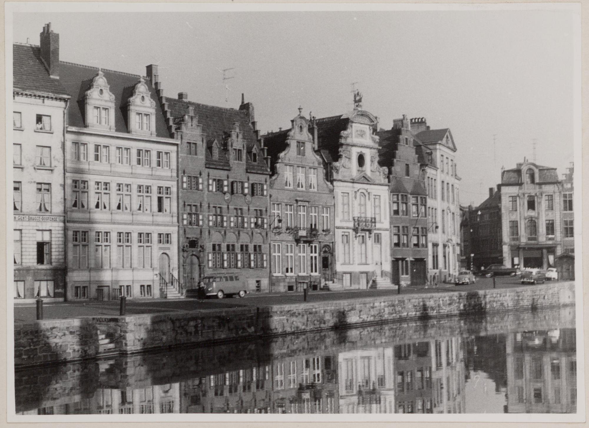 Gent: Korenlei, huizenrij