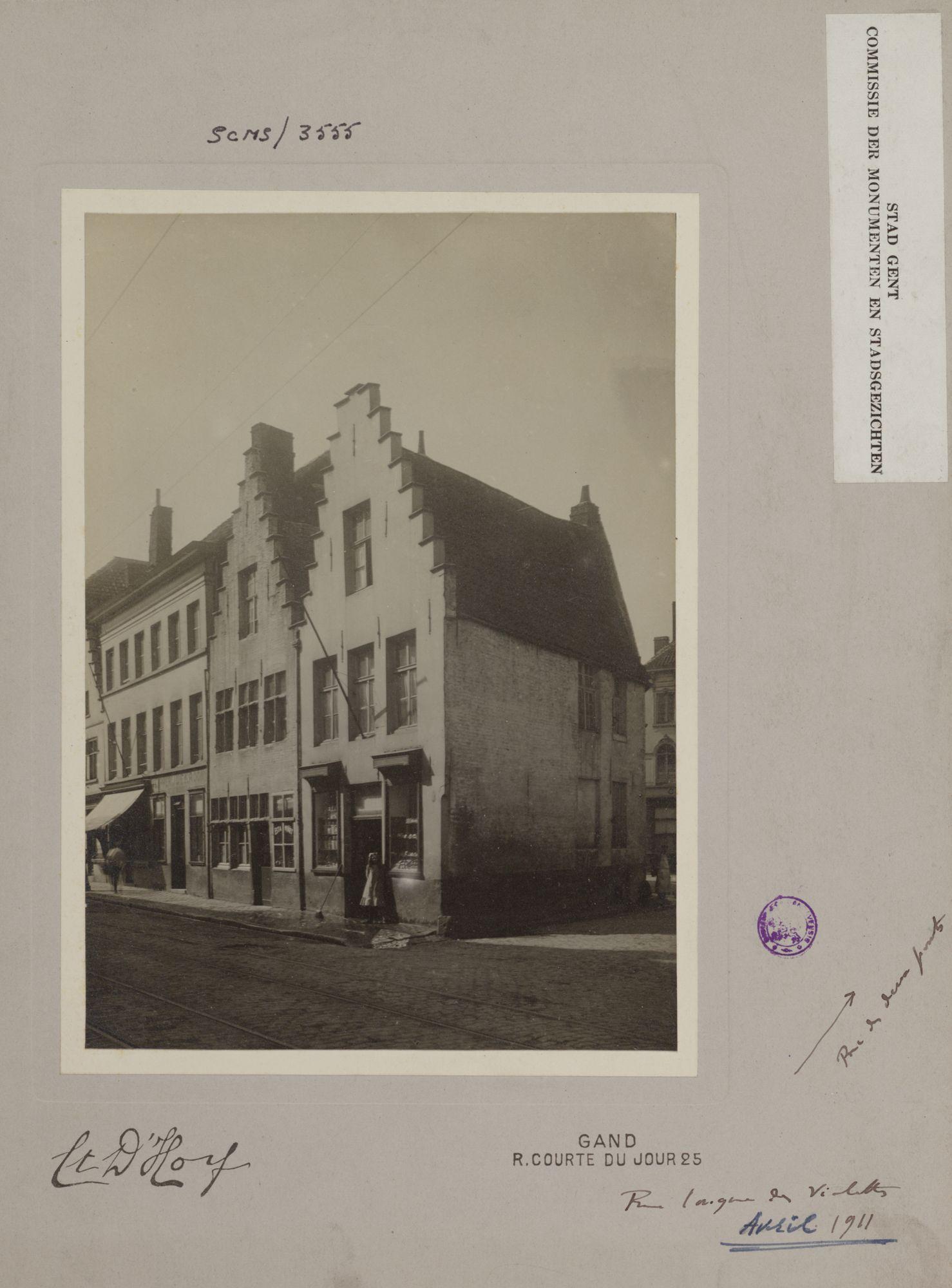Gent: Hoek Lange Violettestraat en Tweebruggenstraat