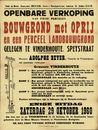 Openbare verkoop van twee percelen bouwgrond met oprij en een perceel landbouwgrond gelegen te Vinderhoute, Speystraat, Vinderhoute, 29 oktober 1960