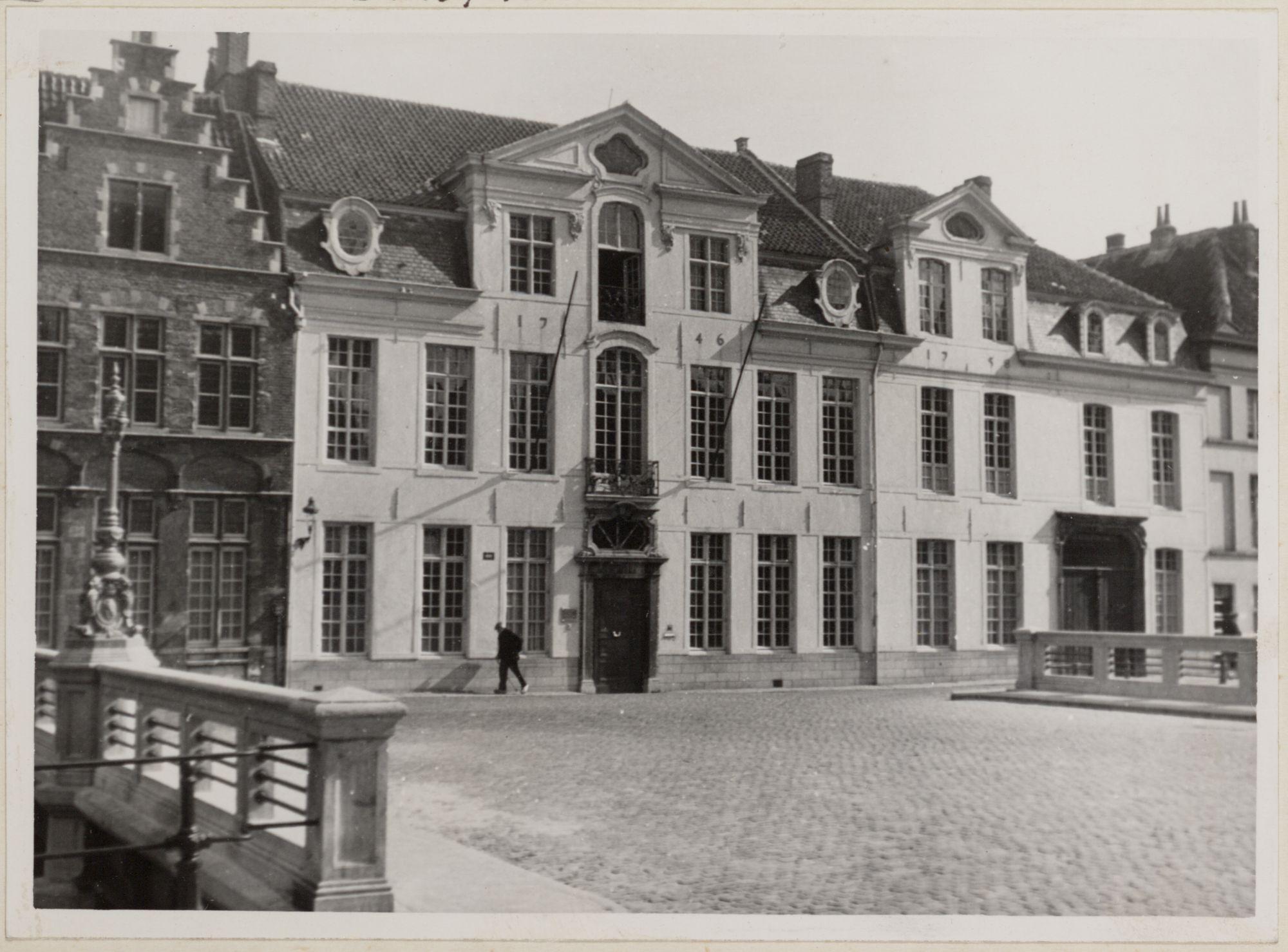 Gent: Wijdenaardbrug en Hotel van Eersel (nu Sint-Bavohumaniora), Reep