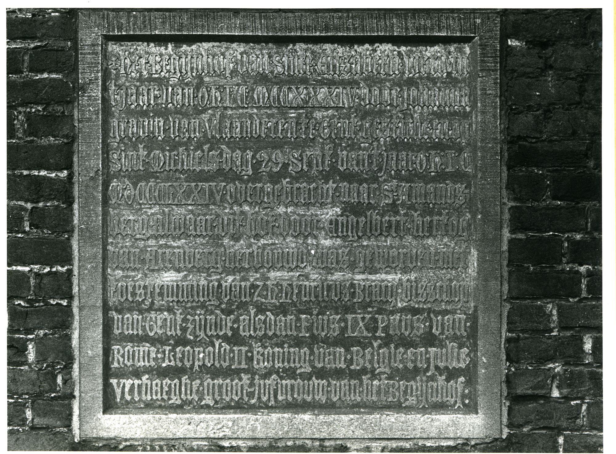 Sint-Amandsberg: Groot Begijnhof 55: Gedenksteen