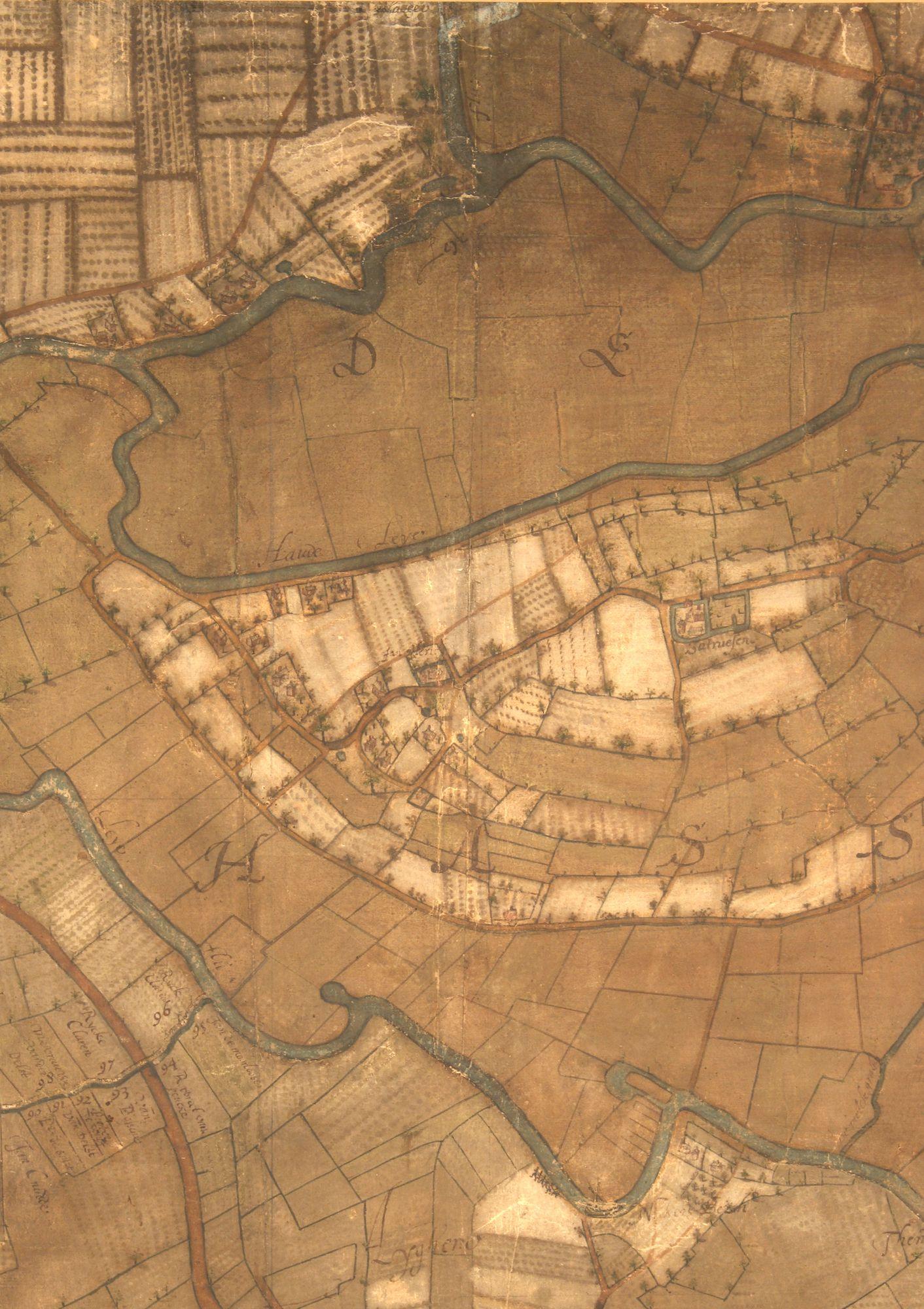 De Assels en de huidige Blaarmeersen: kaartdeel 07 (III) van de Kaart van Gent en het Vrije van Gent afgebakend door de Rietgracht, Jacques Horenbault, 1619