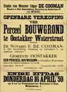 Openbare verkoop van perceel bouwgrond te Oostakker, Waterstraat, Gent, 16 april 1959