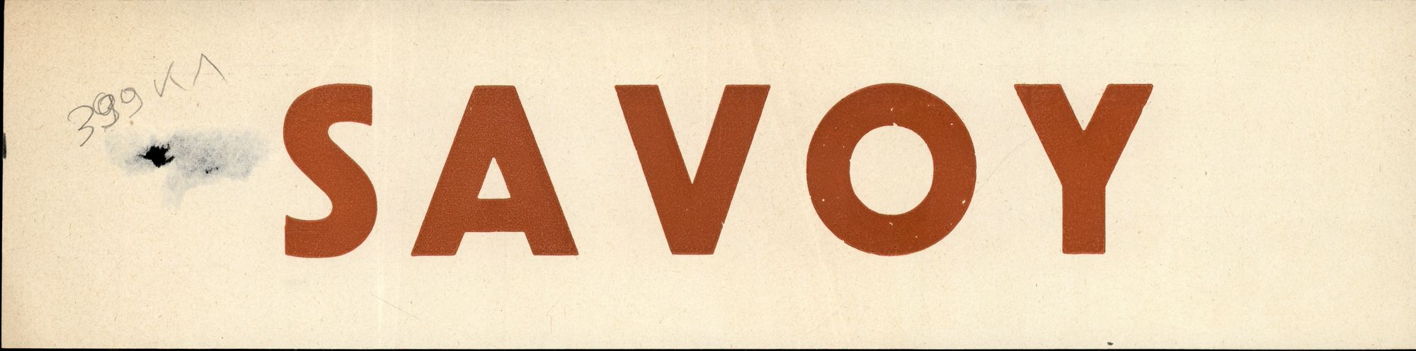 Reclame voor cinema Savoy, Gent