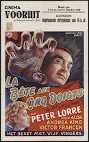 The Beast with Five Fingers | La bete aux cinq doigts | Het beest met vijf vingers, Vooruit, Gent, 8 - 14 oktober 1948