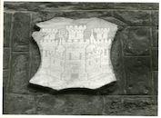 Gent: Hoogpoort: St-Jorishof: Cartouche: wapenschild, 1979