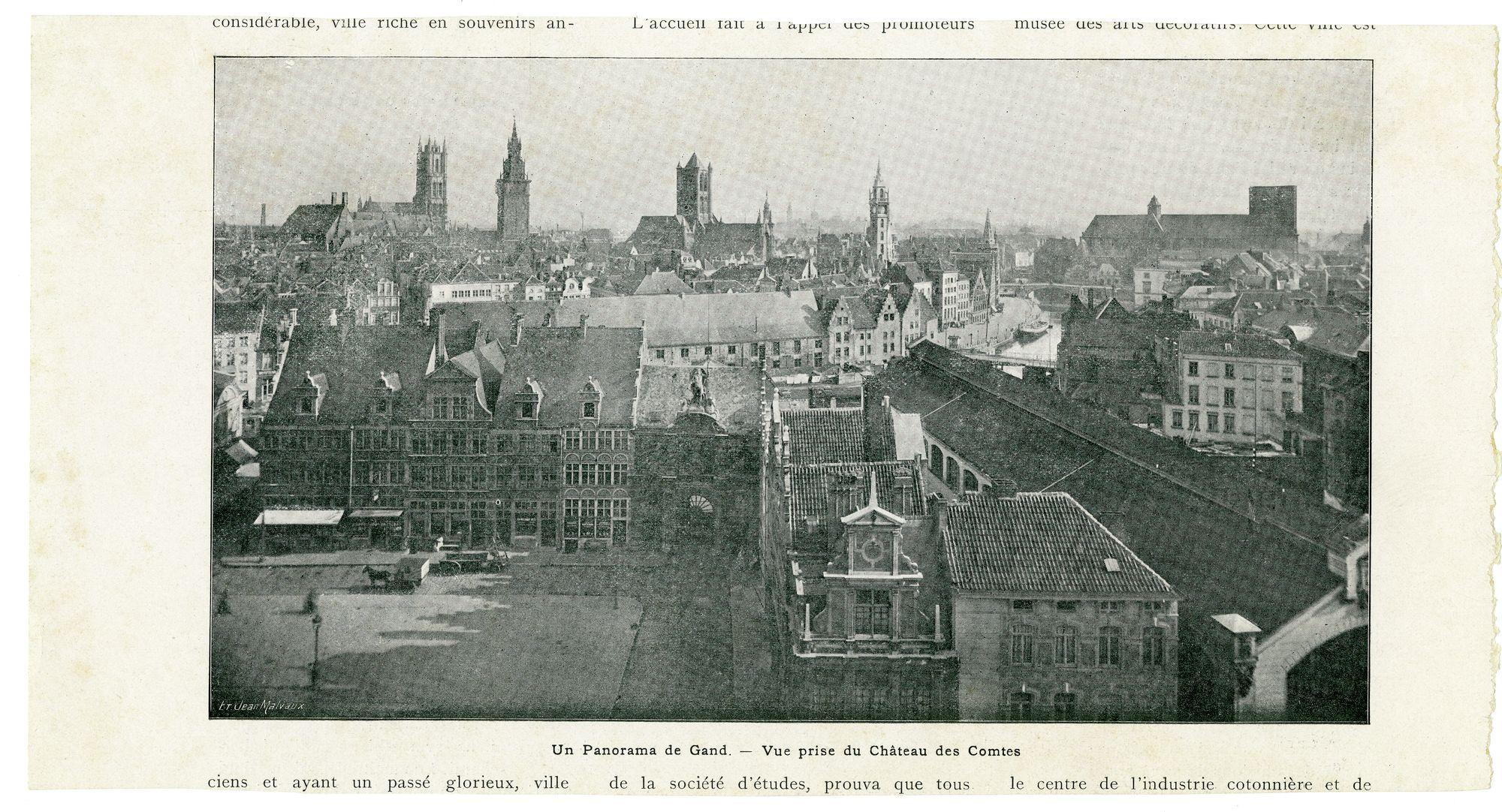 Gent: Panorama van op het Gravensteen