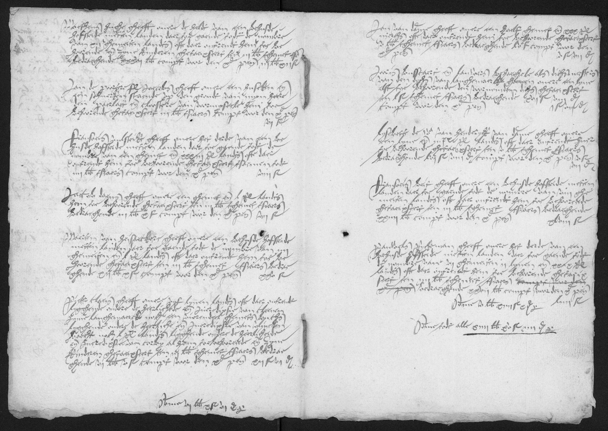 Kohier van de 10de penning in de heerlijkheid van de abdij van Voormezele in de parochie van Langemark, 1555