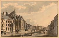 Gent: Predikherenlei, Sint-Michielskerk (koor) en Sint-Michielsbrug