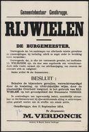 Gemeentebestuur Gendbrugge, Rijwielen.