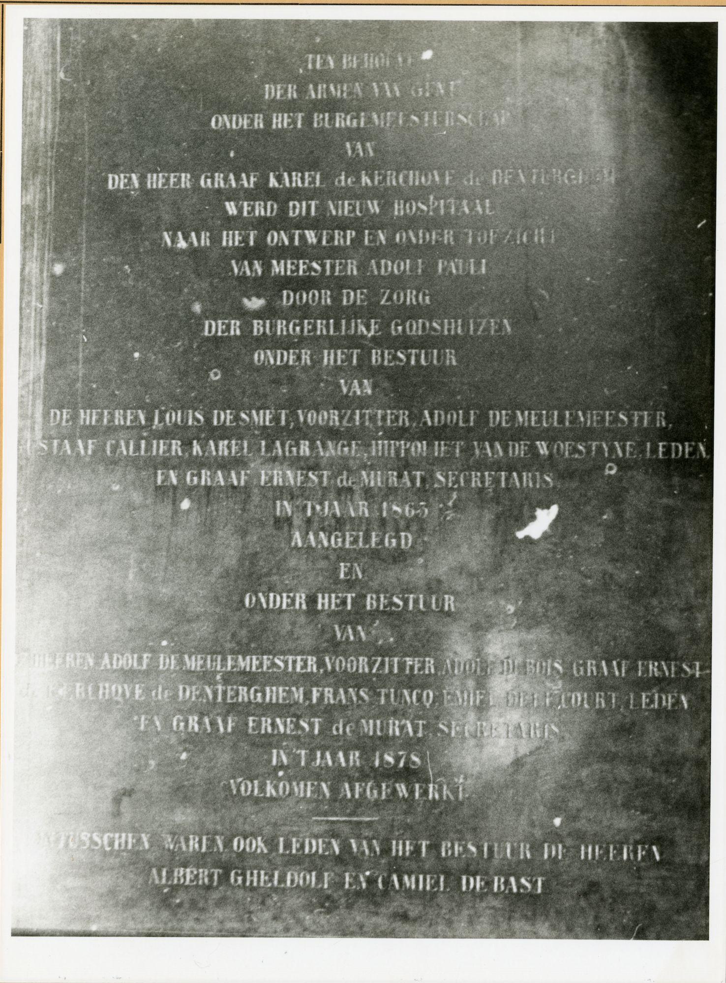 Gent: Jozef Kluyskensstraat: Gedenkplaat, 1979