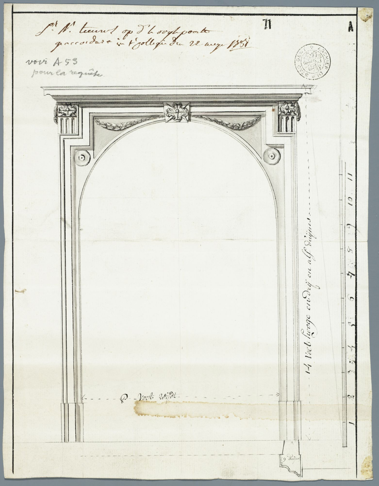 Gent: Hoogpoort, 1781: opstand poort