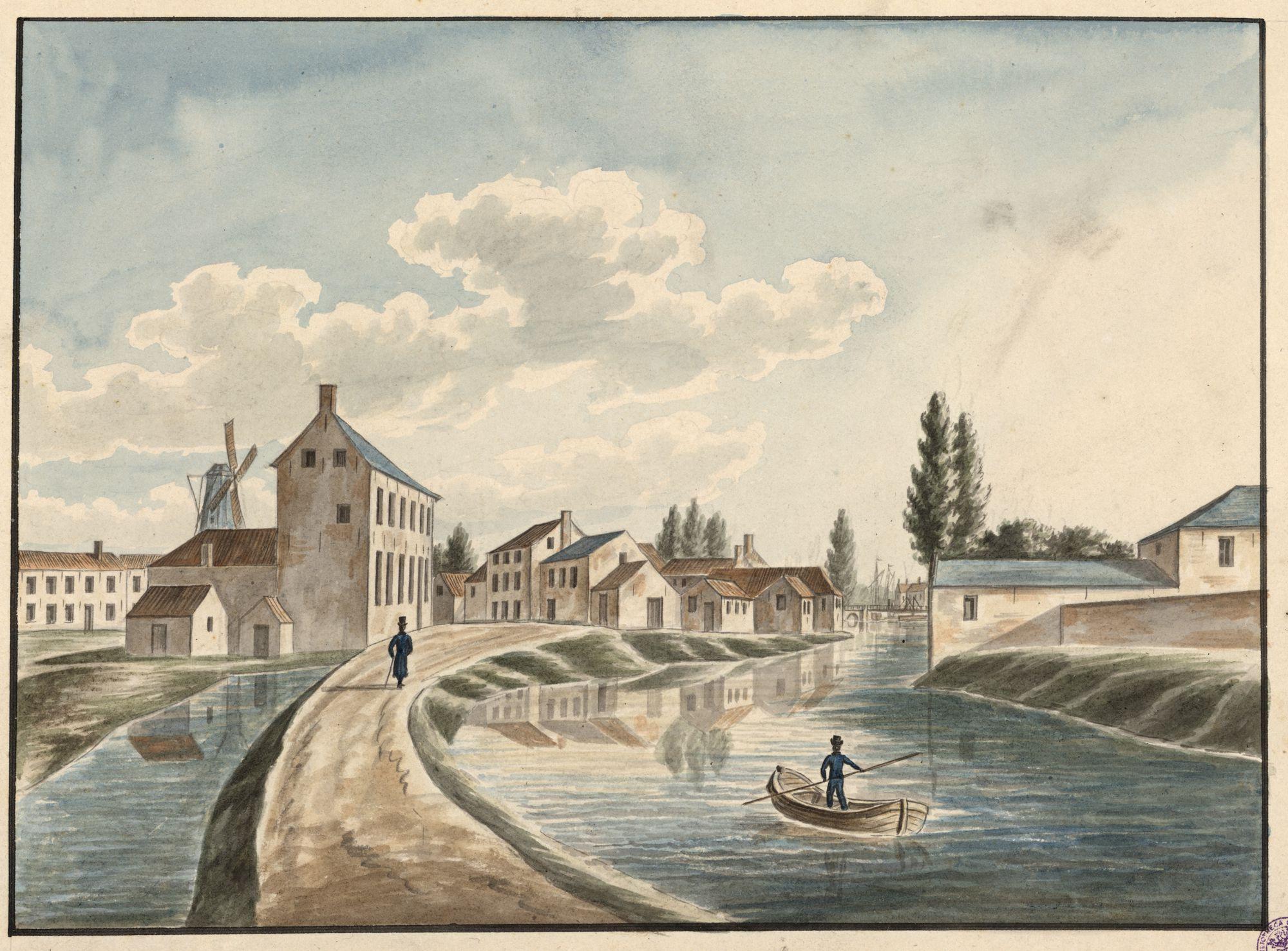 Gent: Leie aan Blekersdijk, gelegen achter Baudelohof