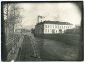 Gent: Keizervest, Schelde en Brusselsestraat (nu begin Brusselsesteenweg en Keizerpark): Belagerungs-Artillerie-Werkstatt (werkplaats voor belegeringsartillerie van het Duitse leger) in Usines De Keukelaere, 1915-1916