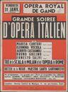 Grand soiree d'opéra Italien, Tous de la scala de Milan et de l'opéra de Rome, Opera Royal de Gand (Koninklijke Opera Gent) , Gent, 31 januari 1947