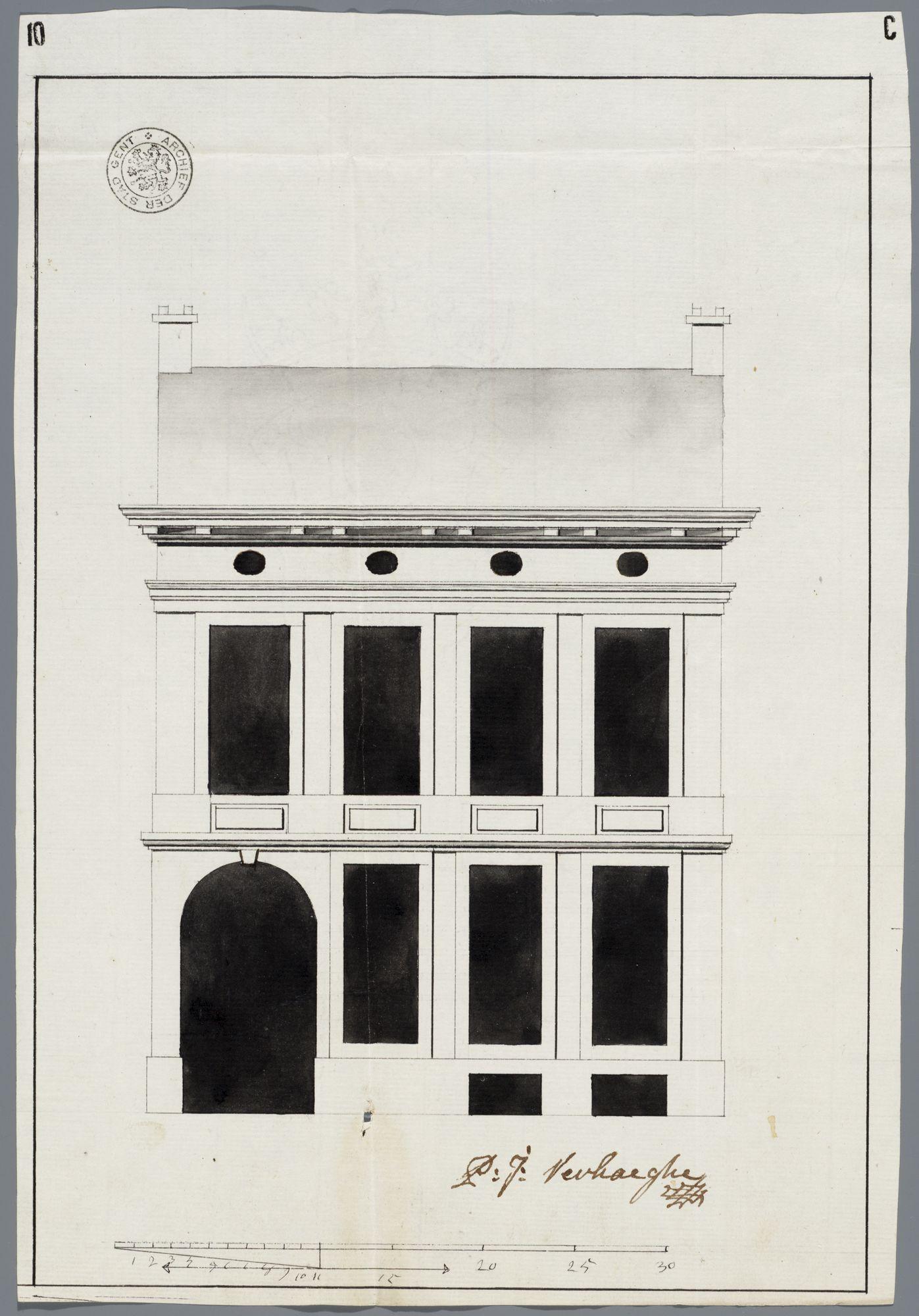 Gent: Abrahamstraat, 1789: opstand voorgevel