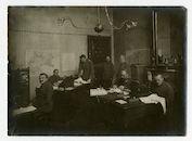 Gent: Koophandelsplein: Justitiepaleis: kantoor van de Ingenieurs Abteilung (genieafdeling) van de Etappen-Inspektion (etappe-inspectie), 1915-1916