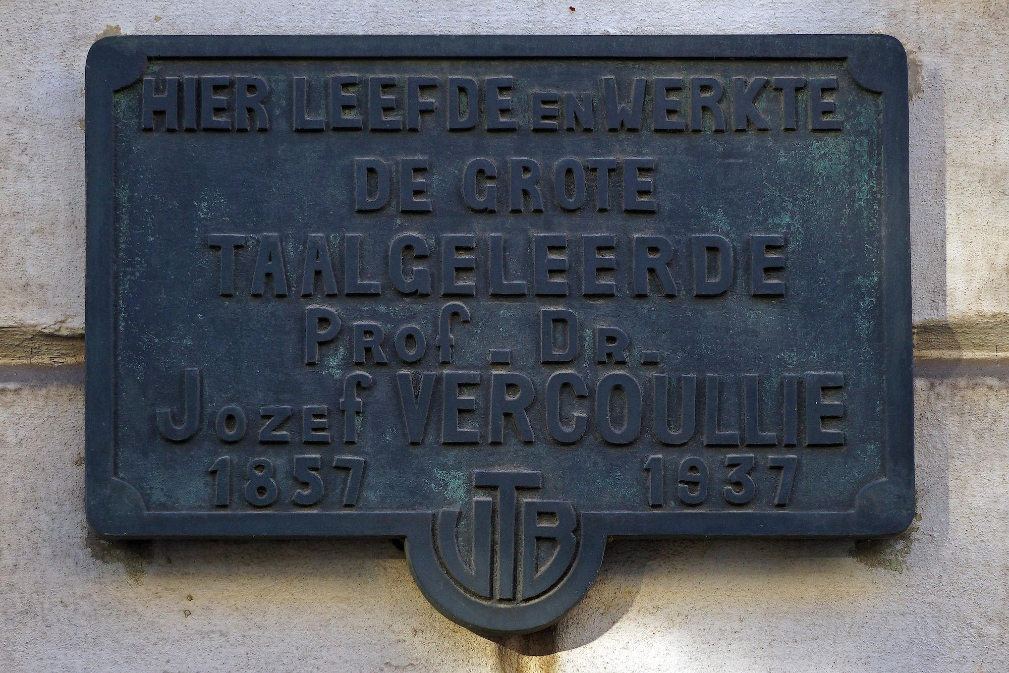 Gedenkplaat - Jozef Vercoullie