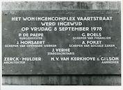 Gent: Vaartstraat: Gedenksteen, 1979
