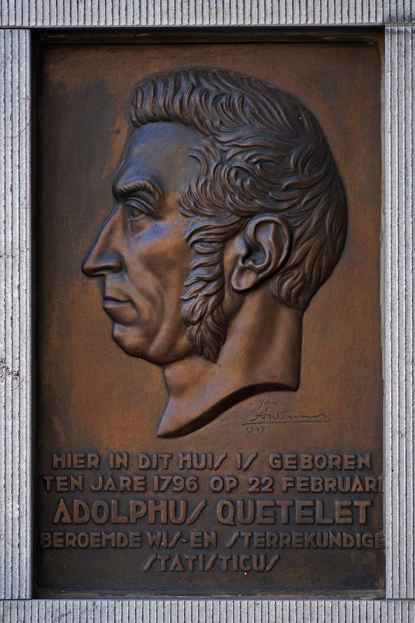 Gedenkplaat - Adolphe Quetelet