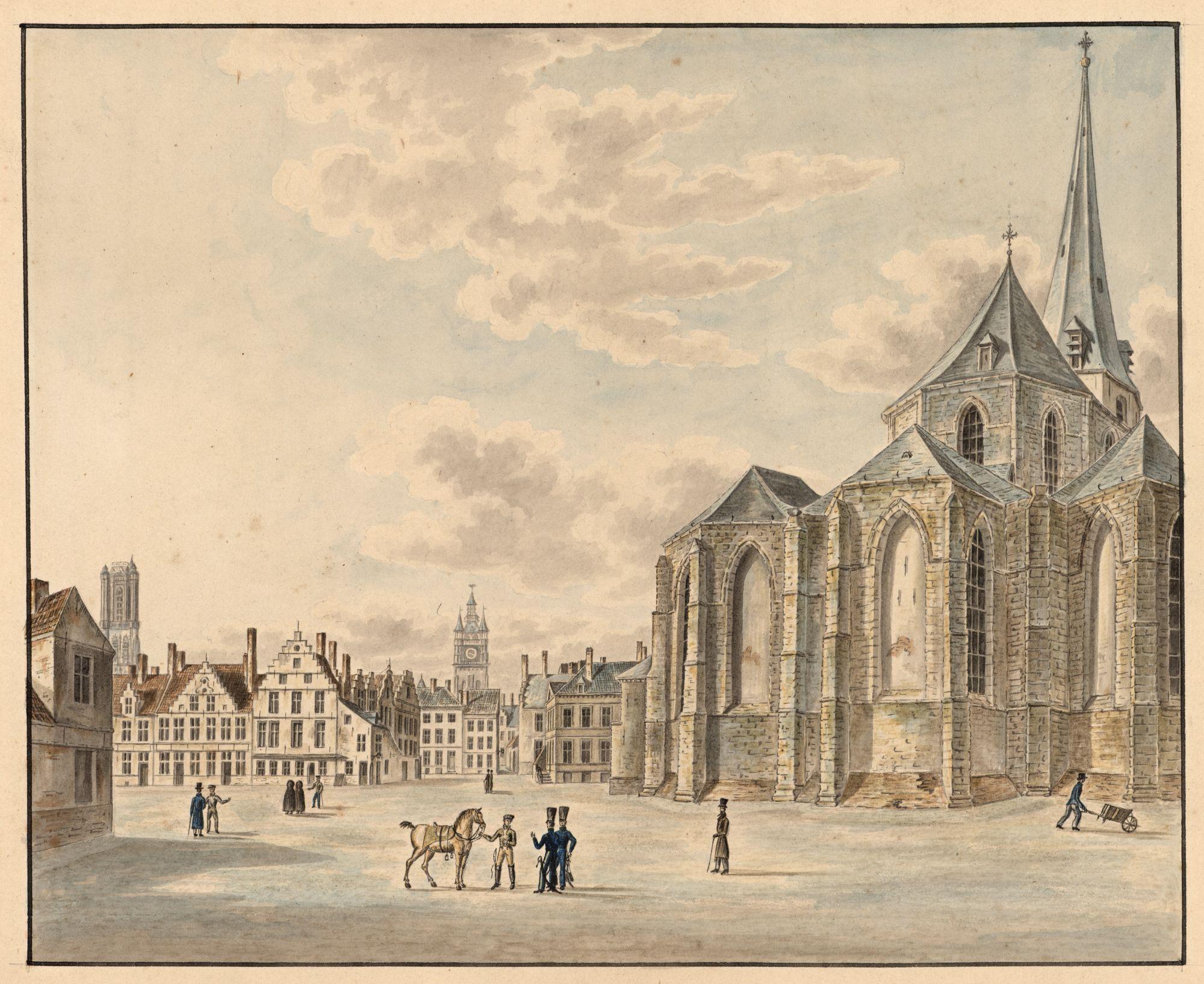 Gent: Vlasmarkt en Sint-Jacobskerk (koor)