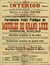 Formidable vente publique de meubles de grand luxe, Galerie Interior, 42 Digue de Brabant, Gand, 5 septembre 1949