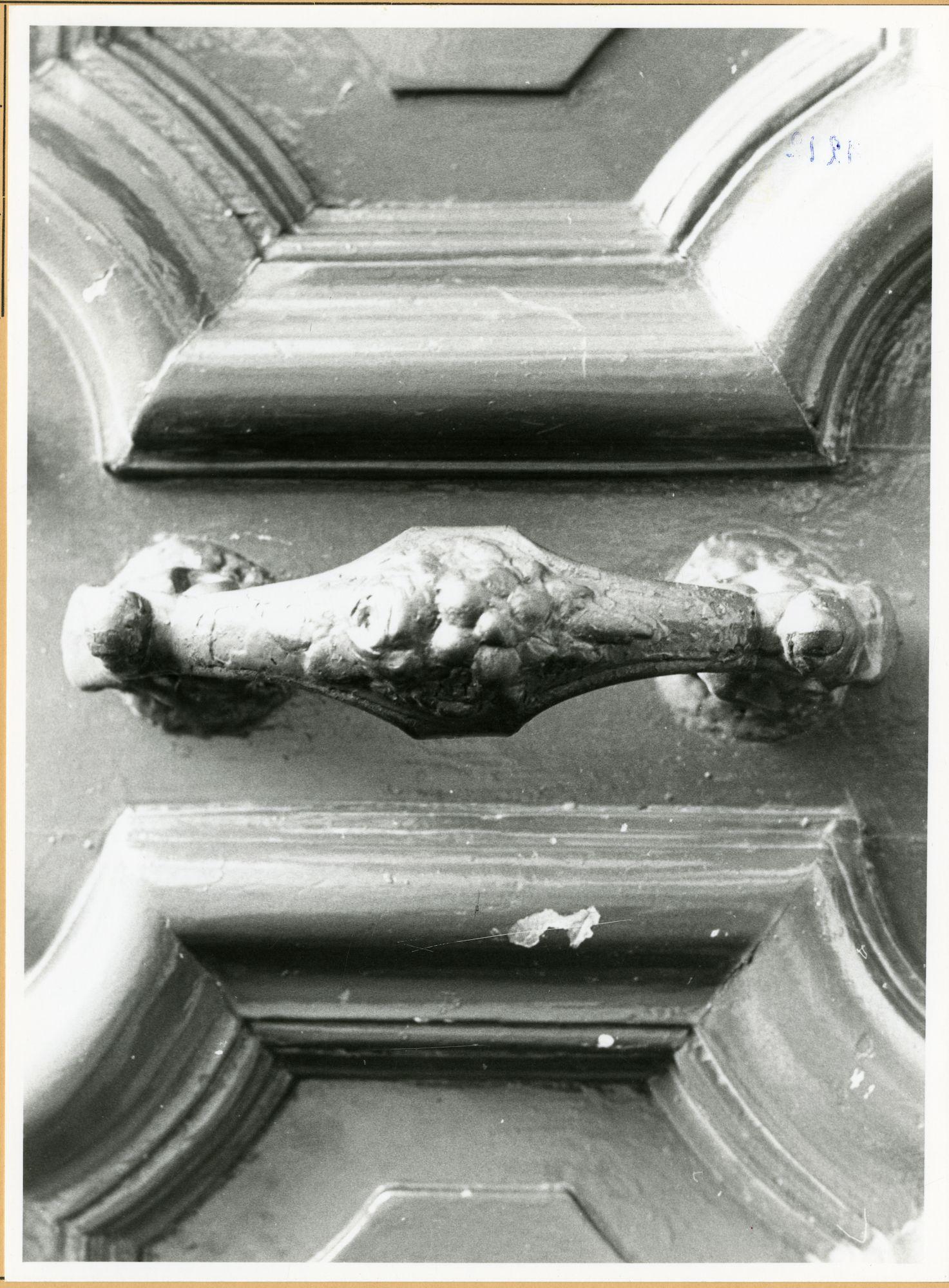 Gent: Hoogstraat 24: Deurgreep, 1979