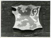 Gent: Hoogpoort: St-Jorishof: Cartouche: wapenschild van Koninkrijk León, 1979