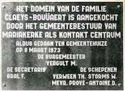 Mariakerke: Alphonse Claeys-Bouuaertlaan: Gedenkplaat, 1979