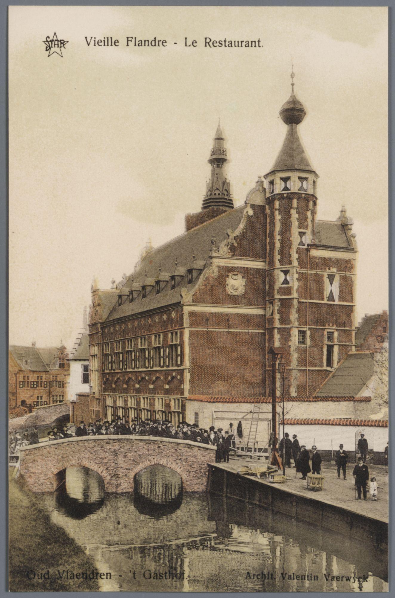 Gent: Wereldtentoonstelling 1913: Oud Vlaanderen: het restaurant