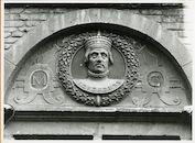 Gent: Burgstraat 4: reliëf: Maximiliaan van Oostenrijk