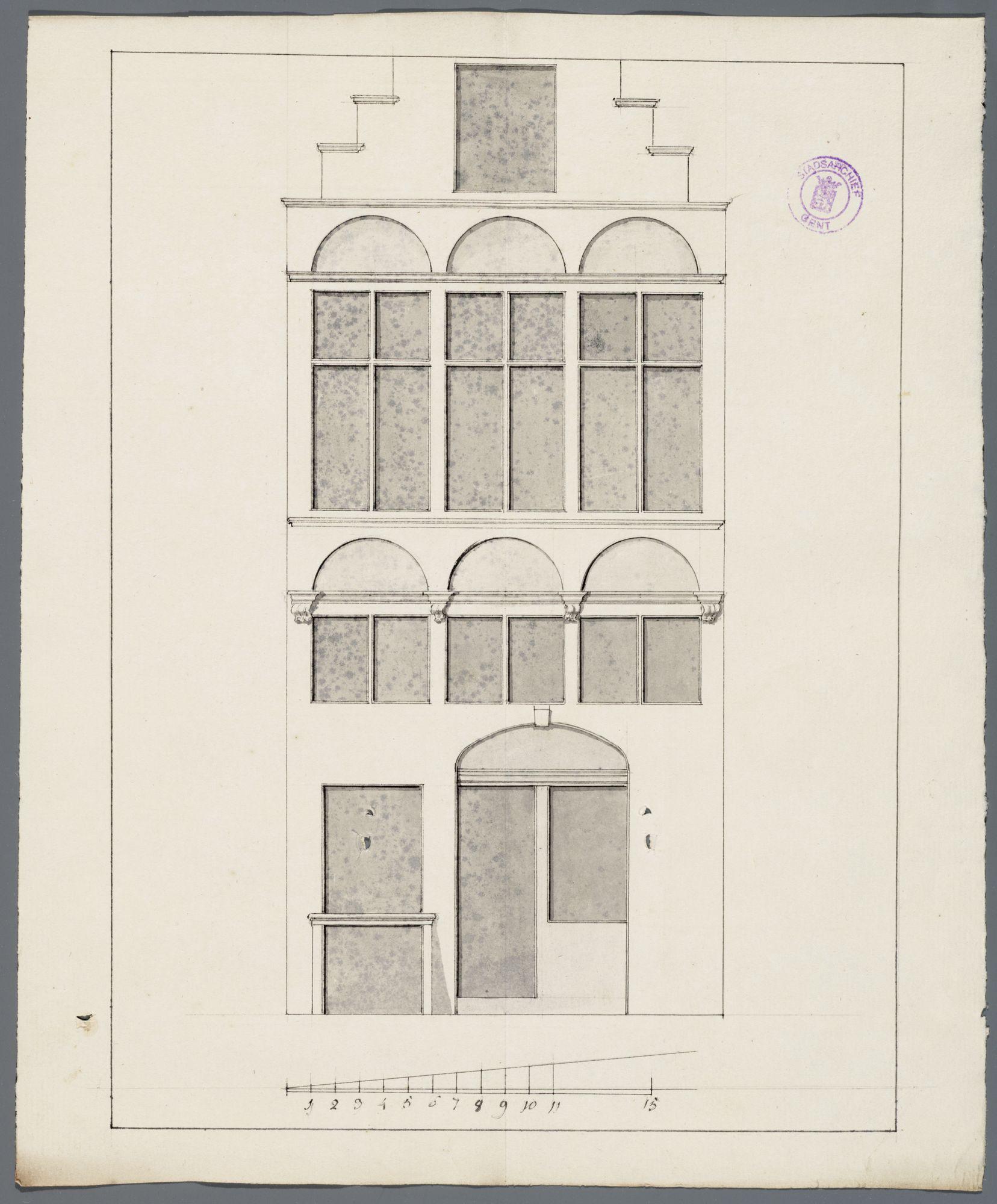 Gent: Sluizeken, 1772: opstand gevel