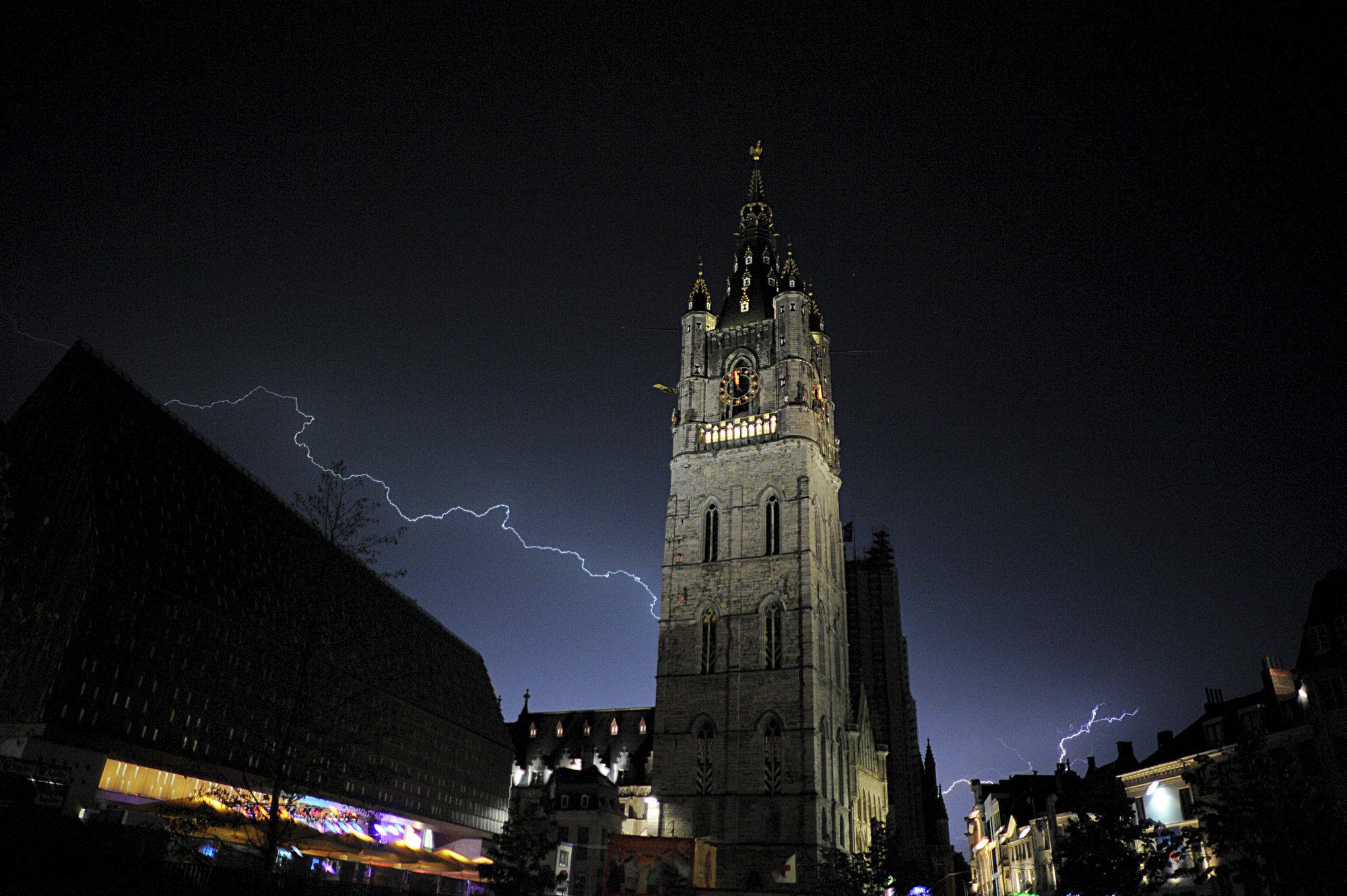 onweer in de binnenstad