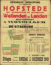 Openbare verkoop van welgelegen hofstede met bijgebouwen en boomgaard weilanden en landen, Bootestraat (Botestraat) te Wondelgem, Gent, 20 december 1949